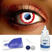 Demon White Contact Lens Complete Set