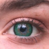 Green 3 Tone Funky Contact Lenses