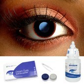 Red Rim Contact Lens Complete Set