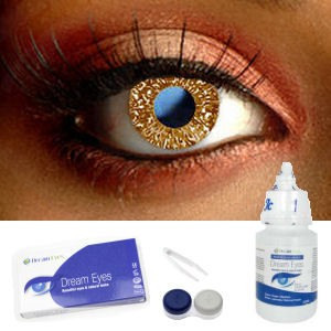 Glimmer Hazel Contact Lenses Complete Set